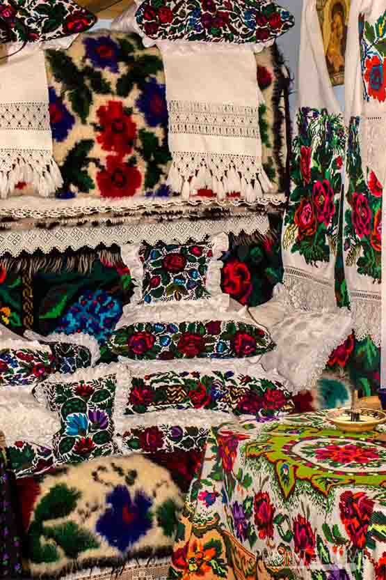 Romanian Textiles From Maramures Hand Woven and Embroidered