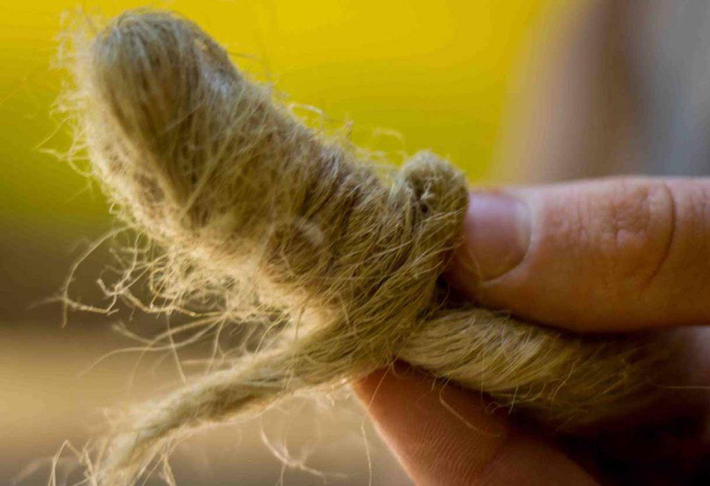 Hand Spinning Hemp Fiber