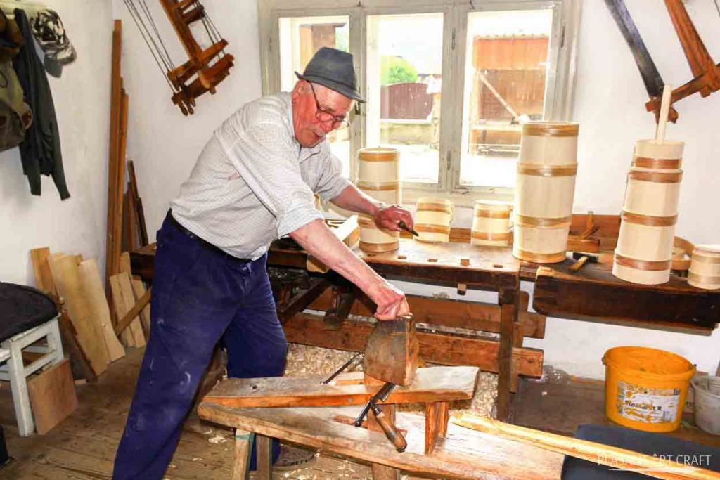 Traditional Artisans Cooper Popescu Gheorghe Barrel Making