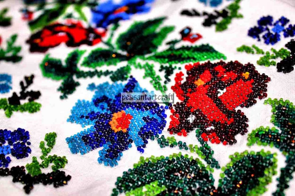 Beaded Embroidery Patterns on Romanian Peasant Blouses