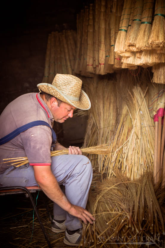 Broom Making With Broomcorn