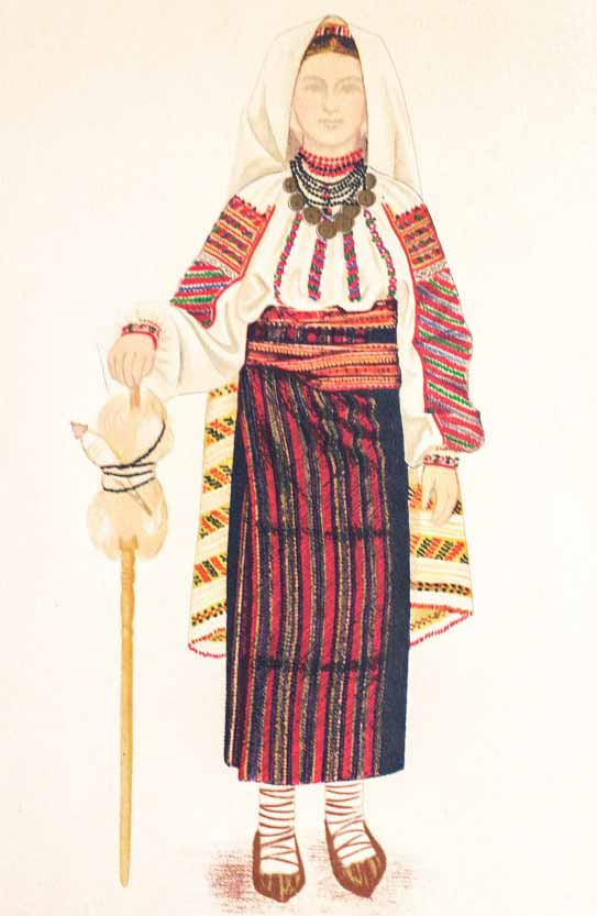 Romanian National Costumes from Moldova