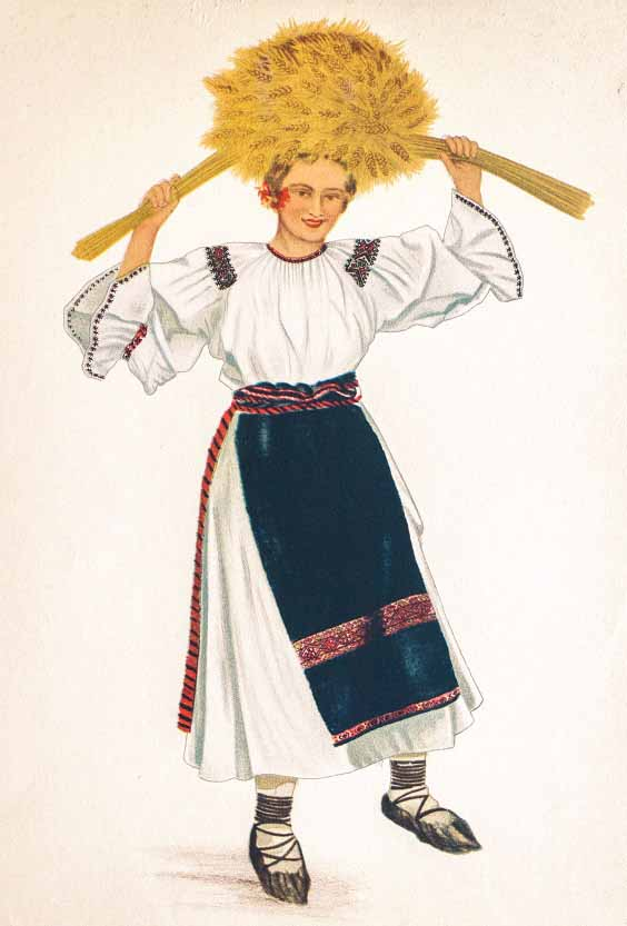 Romanian National Dress from Transylvania