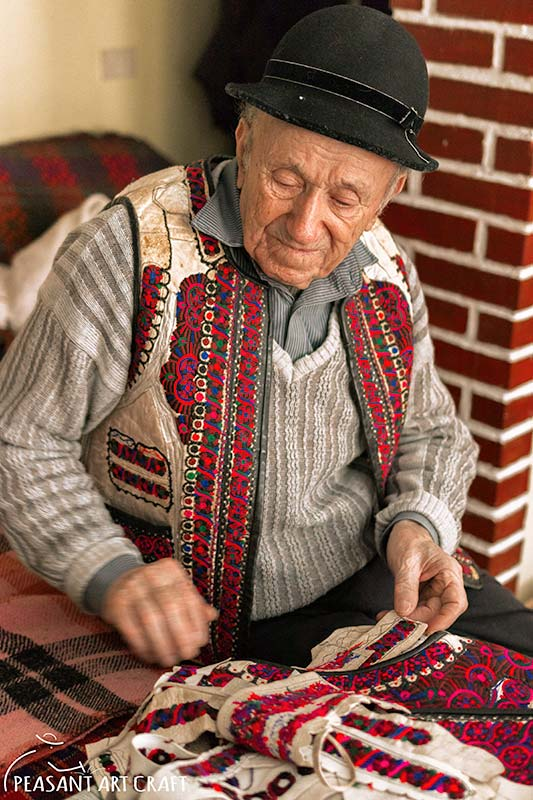 Traditional Romanian Coat Maker UNESCO Living Human Treasure Dumitru Sofonea