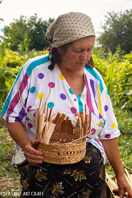 Cattail Basket Weaving Florica Arion