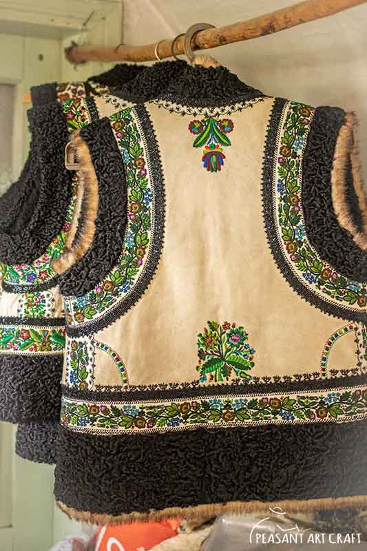Romanian Leather Art Traditional Vests